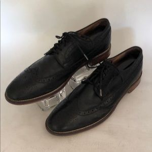 Johnston and Murphy Men's Black Leather Shoes Sz 9